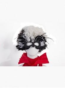 Cruella Halloween Cosplay Accessory Black And White Wig