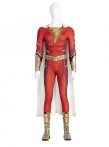 Shazam Fury Of The Gods Shazam Halloween Cosplay Costume Bodysuit Set Without Shoes
