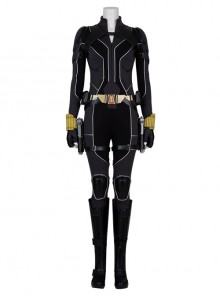 Black Widow Natasha Romanoff Black Battle Suit Halloween Cosplay Costume Full Set