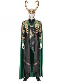 TV Drama Loki Armor Battle Suit Upgrade Version Halloween Cosplay Costume Set