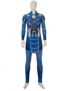 Eternals Ikaris Blue Battle Suit Halloween Cosplay Costume Full Set