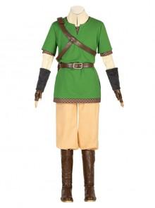 The Legend Of Zelda Skyward Sword Link Halloween Cosplay Costume Full Set Without Shoes