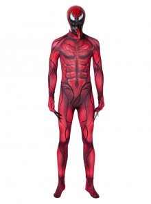 Venom Let There Be Carnage Carnage Cletus Kasady Halloween Cosplay Costume Red Bodysuit
