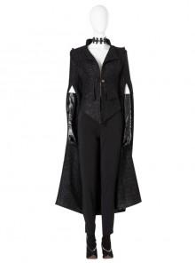 Cruella Black Windbreaker Suit Halloween Cosplay Costume Set