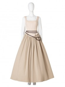 Sony Music Film Cinderella Halloween Cosplay Costume Beige Long Skirt Suit