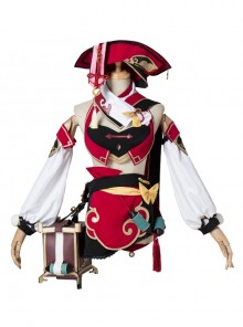 Game Genshin Impact YanFei Halloween Cosplay Costume Set 2