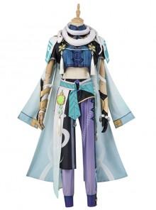 Genshin Impact Baizhu Halloween Cosplay Costume Set