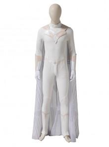 Wanda Vision White Vision Halloween Cosplay Costume White Bodysuit Full Set