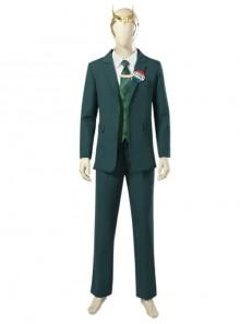 TV Drama Loki Dark Green Suit Halloween Cosplay Costume Set