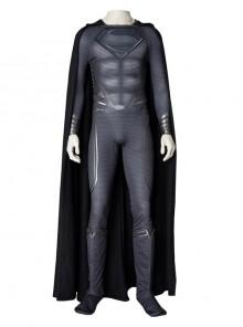 Man Of Steel 2 Superman Clark Kent Black Battle Suit Halloween Cosplay Costume Set