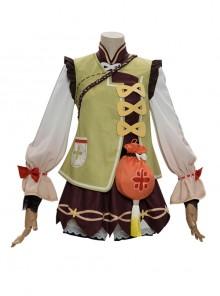 Genshin Impact Yaoyao Halloween Cosplay Costume Full Set