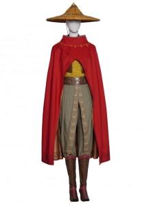 Raya And The Last Dragon Raya Adult Version Suit Halloween Cosplay Costume Set