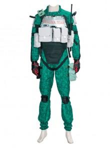 Cyberpunk 2077 Trauma Team Halloween Cosplay Costume Green Bodysuit Full Set