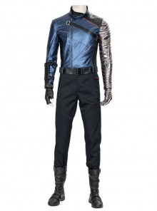 The Falcon And The Winter Soldier Bucky Barnes Winter Soldier Halloween Cosplay Costume Set