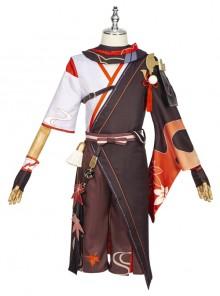 Genshin Impact Kaedehara Kazuha Halloween Cosplay Costume Upgrade Version Full Set