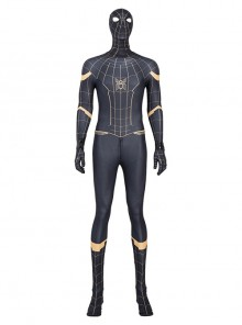 Spider-Man No Way Home Spider-Man Black Battle Suit Halloween Cosplay Costume Full Set