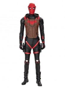 Game Batman Gotham Knights Red Hood Jason Todd Halloween Cosplay Costume Set