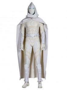 Marvel Comics Werewolf By Night Moon Knight Marc Spector White Battle Suit Halloween Cosplay Costume Set