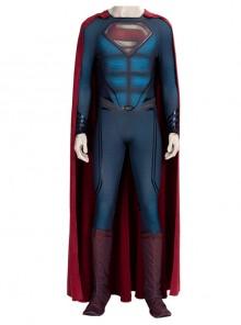 Man of Steel 2 Superman Clark Kent Battle Suit Halloween Cosplay Costume Set