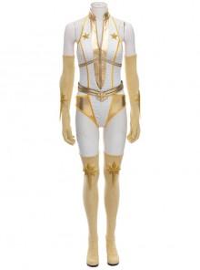 The Boys Season 2 Starlight Annie January Backless Battle Suit Halloween Cosplay Costume Set