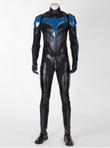 Titans Season 3 Nightwing Dick Grayson Battle Suit Halloween Cosplay Costume Leather Version Full Set