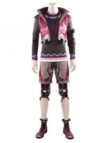 Xenoblade Chronicles Shulk Pink Vest Jacket Set Halloween Cosplay Costume Set