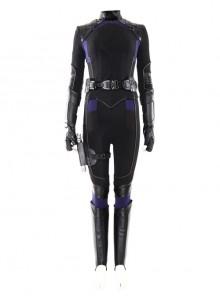 Marvel's Agents Of S.H.I.E.L.D. Quake Daisy Johnson Black Battle Suit Halloween Cosplay Costume Full Set