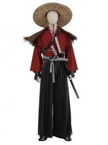 Ghost Of Tsushima Jin Sakai Red Samurai Suit Halloween Cosplay Costume Set