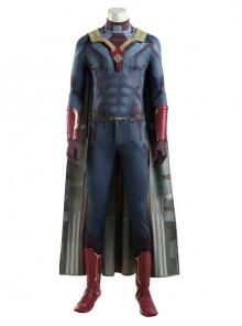 Avengers Age Of Ultron Vision Blue Bodysuit Battle Suit Halloween Cosplay Costume Set