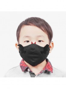Black Punk Wings And Tusks Decoration Small Devil Kids Mask