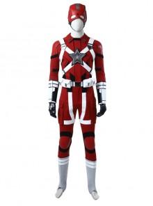 Black Widow Red Guardian Battle Suit Halloween Cosplay Costume Full Set