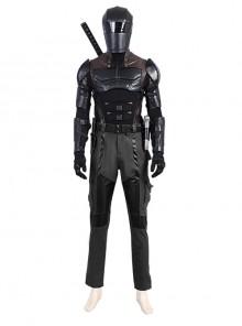 G.I.Joe Retaliation Snake Eyes Black Battle Suit Halloween Cosplay Costume Full Set Without Props Weapon