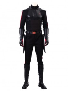Star Wars Jedi Fallen Order Inquisitor Cal Kestis Black Battle Suit Halloween Cosplay Costume Full Set