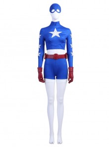 Stargirl Courtney Whitmore Blue Tight Clothing Suit Halloween Cosplay Costume Full Set