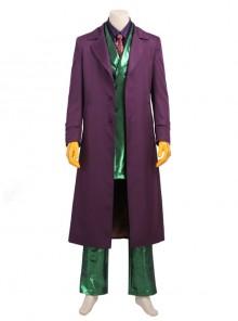 Gotham Season 5 The Joker Purple Coat Green Suit Halloween Cosplay Costume Full Set