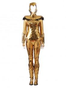 Wonder Woman 1984 Wonder Woman Diana Prince Golden Battle Suit Halloween Cosplay Costume Set Without Helmet