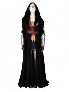 Wonder Woman 1984 Diana Prince Black Cloak Suit Halloween Cosplay Costume Full Set