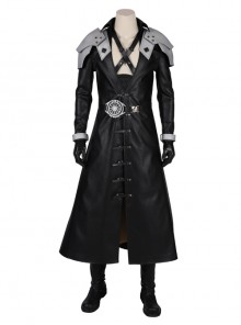 Final Fantasy VII Remake Sephiroth Black Windbreaker Suit Halloween Cosplay Costume Full Set