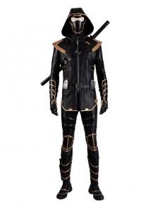 Avengers Endgame Hawkeye Clint Barton Ronin Version Black Battle Suit Halloween Cosplay Costume Full Set