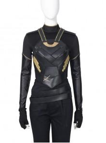 TV Drama Loki Female Loki Sylvie Lushton Halloween Cosplay Costume Upgraded Version Black Vest Armor