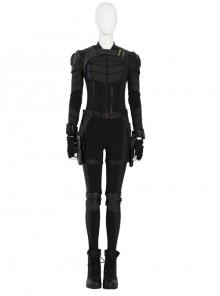 Black Widow Yelena Belova Black Battle Suit Halloween Cosplay Costume Set