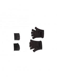Black Widow Yelena Belova Halloween Cosplay Accessories Black Gloves And Wrist Guards