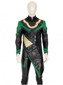 TV Drama Loki Armor Battle Suit Upgrade Version Halloween Cosplay Costume Black Top