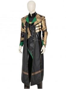 TV Drama Loki Armor Battle Suit Upgrade Version Halloween Cosplay Costume Black Vest