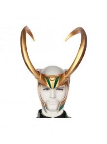 TV Drama Loki Armor Battle Suit Upgrade Version Halloween Cosplay Accessories Golden Helmet