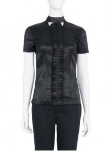 Cruella Black-white Coat Suit Halloween Cosplay Costume Black Short Sleeve Top