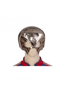 Suicide Squad Peacemaker Christopher Smith Halloween Cosplay Accessories Golden Headcover