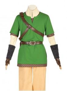 The Legend Of Zelda Skyward Sword Link Halloween Cosplay Costume Green Short Sleeve T-shirt