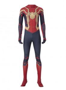 Spider-Man No Way Home Peter Parker Iron Spider-Man Battle Suit Halloween Cosplay Costume Red Bodysuit