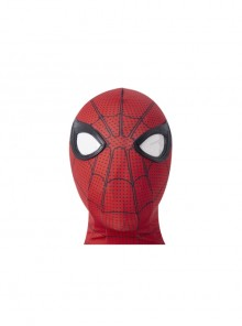 Spider-Man No Way Home Peter Parker Iron Spider-Man Battle Suit Halloween Cosplay Accessories Red Headcover